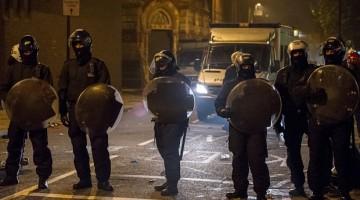 El saldo fueron cuatro policías heridos y varios detenidos