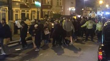 manifestación en walthamstow