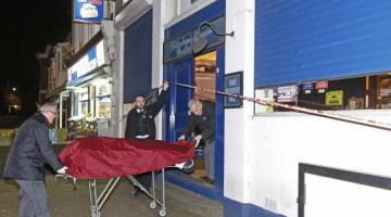 Policia traslada cadáver del esposo de la mujer embarazada