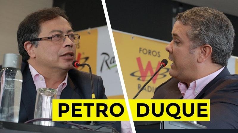 Iván Duque, lidera la contienda con el 39,1% de los votos