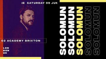 El productor Bosnio Solomun actuará este sábado 9 de junio en el icónico club londinense O2 Academy Brixton