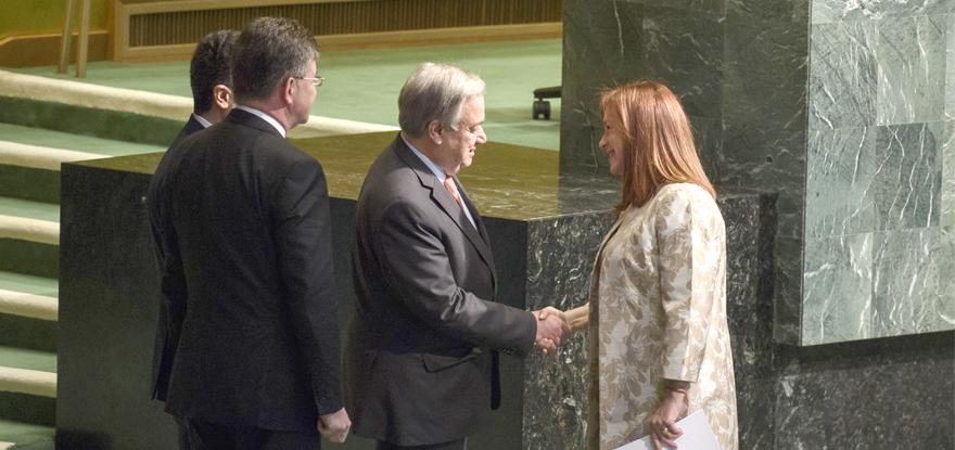 Canciller de Ecuador es elegida presidenta de la Asamblea General de la ONU y sigue el empoderamiento femenino