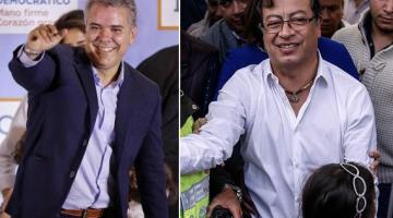 Iván Duque sigue favorito frente a Gustavo Petro para ser elegido presidente de Colombia