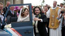 Boda de Rose Leslie y Kit Harington de Game of Thrones