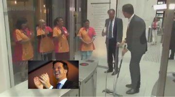 """Un ejemplo de """"liderazgo humilde"""" es como llaman en las redes sociales a las acciones del primer ministro holandés, Mark Rutte"""