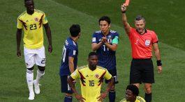 Colombia superado numéricamente por Japón cayó 2-1