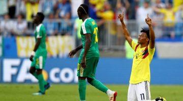 Colombia avanzó a octavos como líder de grupo del Mundial de Rusia