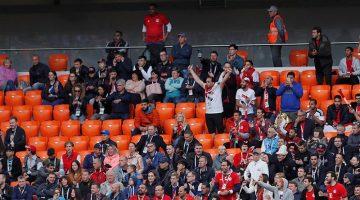 La poca presencia de público en las tribunas del Ekaterimburgo Arena generó intriga ya que la FIFA aseguró que la gran mayoría de las entradas estaban vendidas.