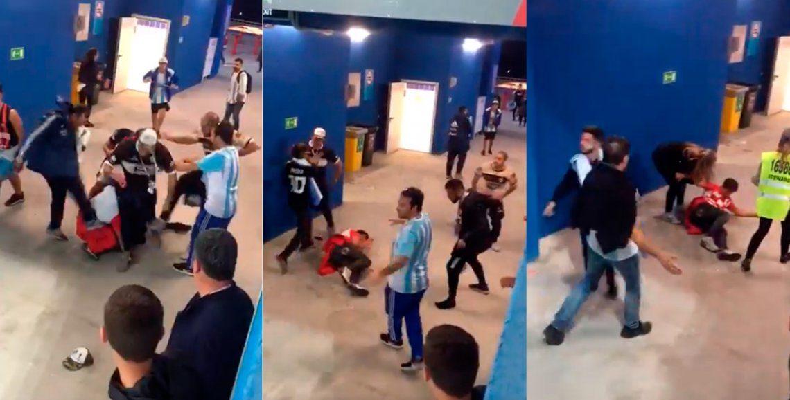 Argentina pide deporten a hinchas que patearon a fanáticos croatas