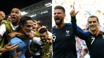 Uruguay y Francia chocarán en cuartos de final del Mundial de Rusia