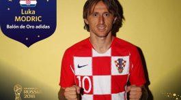 El croata Luka Modric, centrocampista del Real Madrid, ha sido galardonado con el Balón de Oro al mejor jugador del Mundial de Rusia 2018