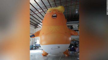 'Bebé Trump' volará sobre el Parlamento durante visita del presidente estadounidense