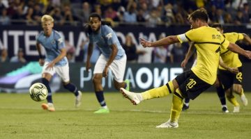 Manchester City cayó ante Borussia en International Champions Cup