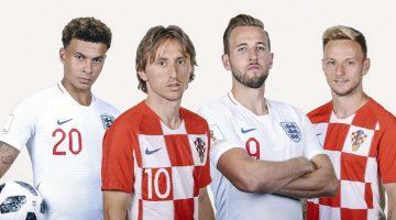 Inglaterra, el creador del fútbol que se coronó en 1966, y Croacia, de corta historia en los mundiales, se citarán este miércoles en Moscú en la segunda semifinal de Rusia 2018