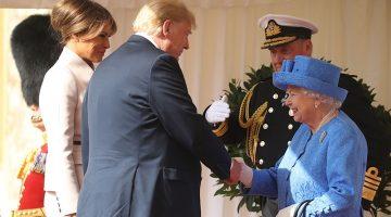 Los errores de Donald Trump al conocer a Isabel II