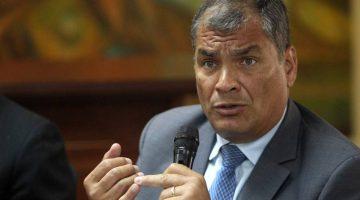 Ordenan prisión preventiva a expresidente de Ecuador Rafael Correa