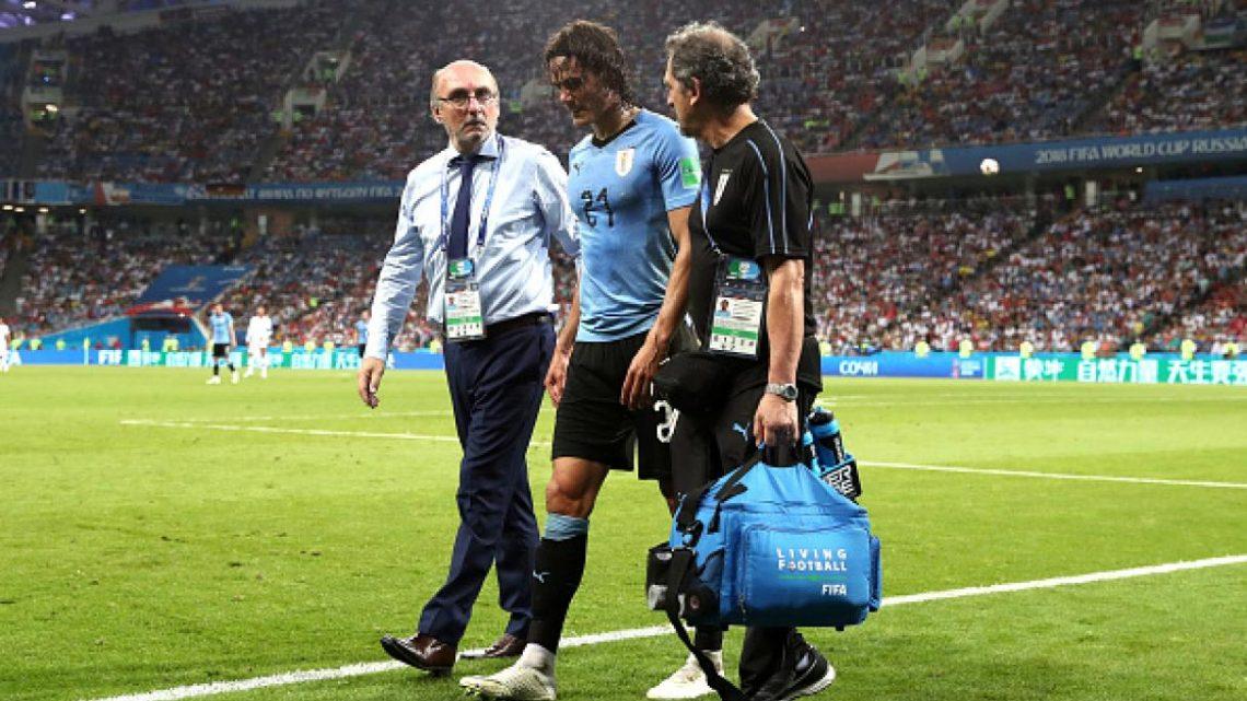 La posible ausencia de Edinson Cavani sería un duro golpe para las esperanzas de Uruguay