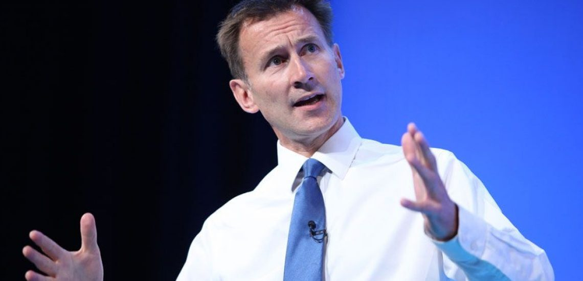 El Brexit sin acuerdo toma fuerza en Reino Unido, asegura Jeremy Hunt