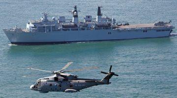 Tifón interfiere con ejercicios militares de Japón y Reino Unido