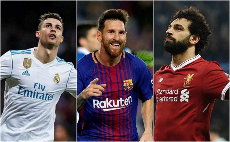 Salah, Cristiano y Messi en carrera por ser el mejor delantero de Champions