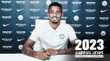 Brasileño Gabriel Jesús renovó con el Manchester City