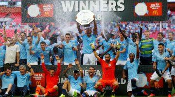 Manchester City alzó el título de la Community Shield