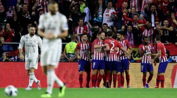 Atlético Madrid doblegó al Real Madrid para alzar la Supercopa de Europa