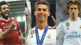 Salah y Modric buscarán tumbar a Cristiano como Jugador del Año de la UEFA