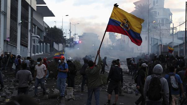 La ola de manifestaciones siguen en Ecuador. (Foto: Agencias)