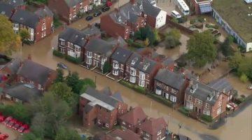 Inundaciones en Inglaterra. (Foto: Agencias)