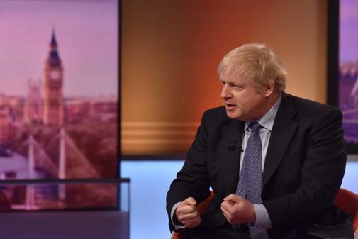 El primer ministro Boris Johnson durante la entrevista de este domingo en la BBC. (Foto: AFP)