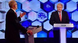 Jeremy Corbyn y Boris Johnson en debate a una semana de las elecciones. (Foto: Agencias)