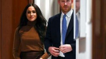 Meghan Markle y el Príncipe Harry. (Foto: Agencia)